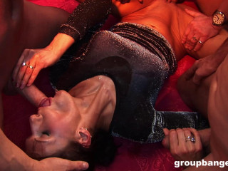 Stylish Strippers Satisfy Apartment Utter Of Men