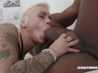 Sexy Blond Mila Milan gangbanged By 4 Black Guys