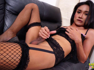 Noni, A Stunning Lady In Fishnets