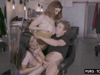 Annabel Redd, Violet Myers - Trim and a Shave Vol. 1 Episode 2 (2020)