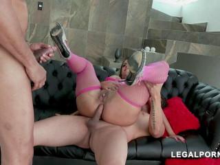 LegalPorno - Big Booty Brazilian Babe Mia Linz Receives Double Anal Penetration
