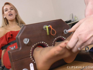 UkTickling - Ashleigh Gets Mean With Jade's Insanely Ticklish Feet & Body!