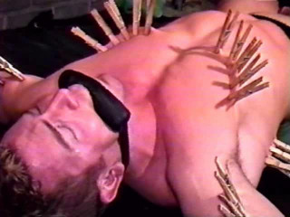 Erik Lenn gets put through a grueling bondage, paddling, and body shaving session