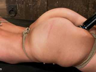 Part 2/4 of the August Hogtied live show: Audrey is tightly bound