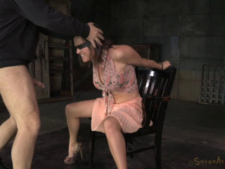 Busty pornography starlet Krissy Lynn trussed and jaws trained, toughly porked by stiff cock!