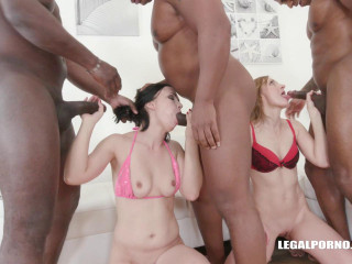 Brutal interracial orgy with fist & gigant dicks