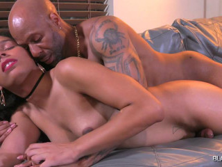 Black-TGirls - Ms Rose Gets Creampied by Soldier Boi!
