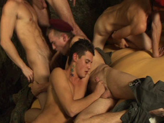 Bareback Group sex Recruits Vol. 2 - Enrico Cruiz, Tony Elliot