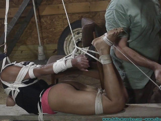 Monica Frog-tied In The Barn Part 4