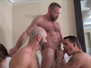 Hard Fuck & Orgy With Muscle Householes