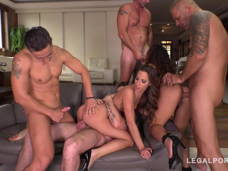 Big Booty Anal Nymphos Amirah Liz Revamped Rocked by four Big Cocks (2018)