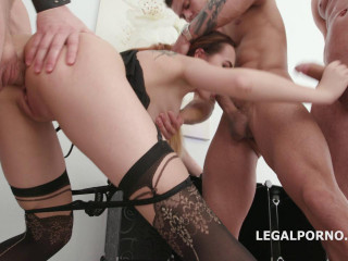 Anal Gangbang Festival For Small Babe Victoria With DP Fuck