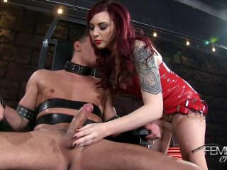Amber Ivy - Bondage Chair Milking