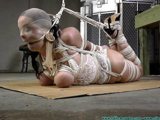 JJ Plush hogtied with a Lot of Rope Part 3