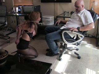 Tight bondage, torture and domination for hot girl with big tits