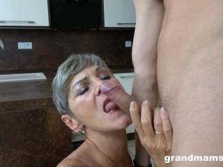Gigolo fucks horny granny