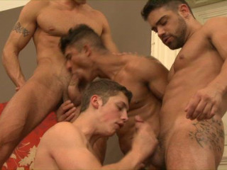 Hard Orgy With Muscle Males