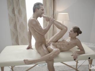 Oil massage and creampie for Tiffany Tatum FullHD 1080p