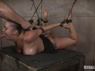 Sexy Damsel Next Door has her first-ever Restrain bondage