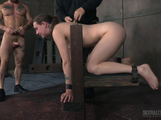 Lovely female next door suffers violent deep-throating