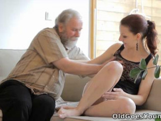 Ilona and her fellow are sharing a supreme time when he invites his elderly mate over