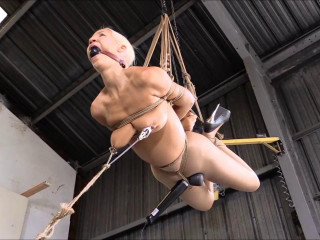 Hard bondage, strappado torment and torment for molten nude nymph