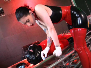 Needled & Neutered Rubber Gimp CBT
