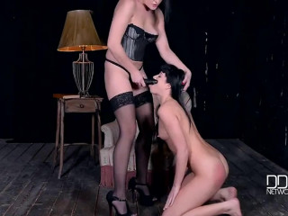 Super bondage, domination and torture for beautiful naked model