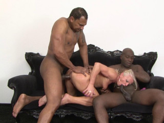 Two Black Guys Fuck A Mature Blonde - Inez - Full HD 1080p
