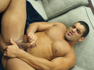 Muscular boy takes a shower and Fingering