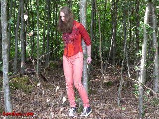 I love Bondage - Handcuffed in the forest