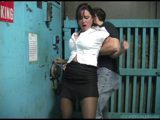 Christina Carter is Chased Caught Carried and Cuffed Spreadeagle