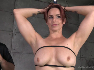 Busty Bella Rossi takes on 2 cocks , HD 720p