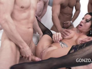 Veronica Avluv Luvs Double Ass fucking Group sex