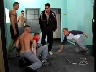 Hard orgy with military males