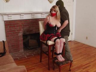Revenge on BigTit Waitress Barefoot Suspension for Lorelei