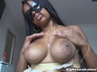 big tit latina milf showing her black nipples