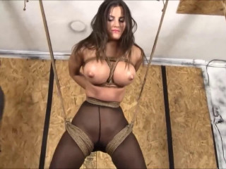 Cock-squeezing bondage, strappado torment and torment for naughty spectacular dark-haired Total HD 1080p