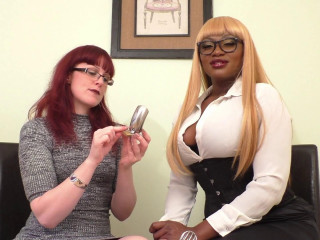 Miss Kitty Bliss & Ava Black - We Like Our Boys in Chastity
