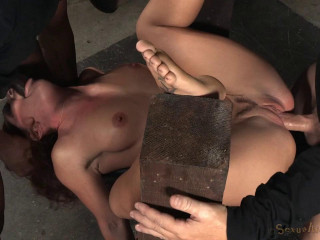 Sexy Squirting Savannah Fox Roughly Fucked In Strict Bondage - HD 720p
