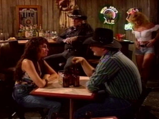 Platinum-blonde Bar Slut Alex Fellates Cowboy's Woody