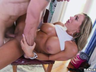 Olivia Austin - Cum craving Olivia Austin fucks hard for a load to swallow!