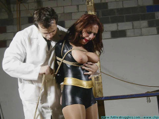 Superheroines Revenge Gone Awry Table Tied and Tits Tied
