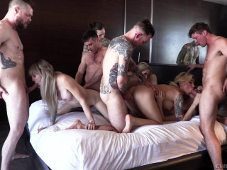 Aubrey Kate In Hot Orgy With Many Dicks