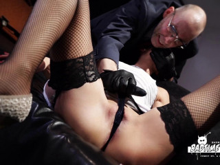 Hot German slave babe July Sun gets tied