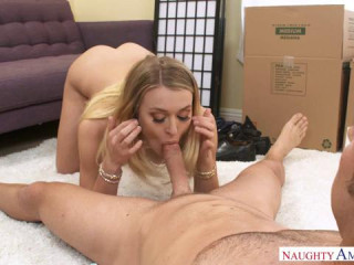 Natalia Starr fucking in the living room with her blue eyes