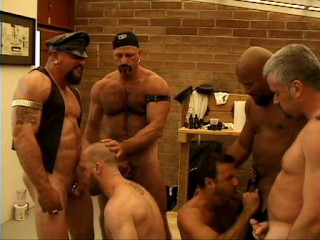 Brutal Hogs In Rough Gangbang