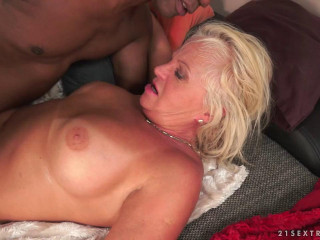 Lusty Granny Annett Craves Dark Meat