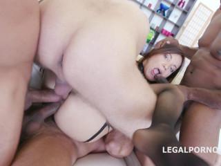 Anal Slut Roxy Dee Destroyed By 4 Big Dicks With Dap & Tap