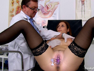 Antonia Sainz (23 years dolls gyno exam)